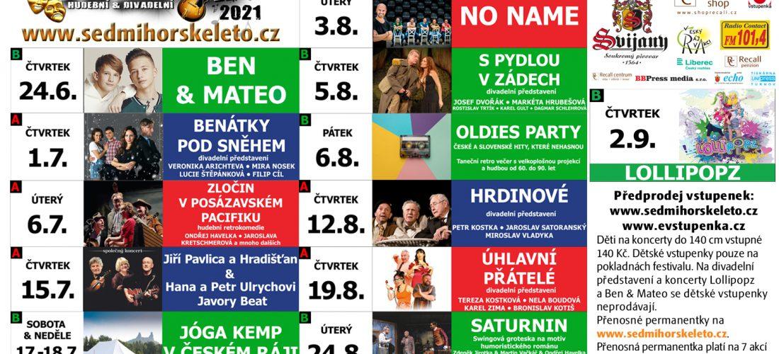 Nejrozsáhlejší kulturní akce v Českém ráji – Sedmihorské léto 2021 – program